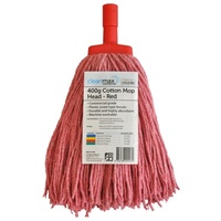 CLEANMAX Contractor Cotton Mop Head 400G  [Colour: RED]