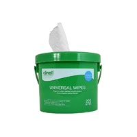 Clinell Universal Sanitising Wipes 225 Wipes Bucket